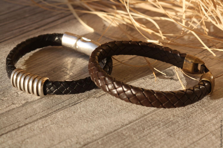 Кожаный браслет для женщин своими руками 103