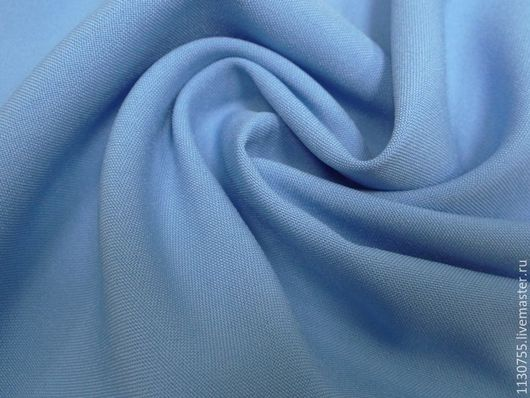 Шитье ручной работы. Ярмарка Мастеров - ручная работа. Купить Ткань габардин  голубой. Handmade. Голубой, ткани для рукоделия
