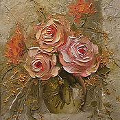Картины и панно handmade. Livemaster - original item Garden roses. Handmade.