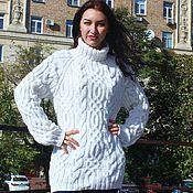 """Одежда ручной работы. Ярмарка Мастеров - ручная работа свитер """"Fishermen""""белоснежный. Handmade."""