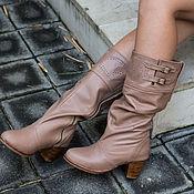 Обувь ручной работы handmade. Livemaster - original item Women`s leather boots . Boots of genuine leather. Handmade.