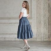 Одежда handmade. Livemaster - original item Linen skirt with corset belt /70 cm. Handmade.