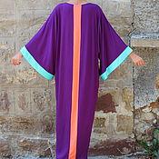 Одежда ручной работы. Ярмарка Мастеров - ручная работа Фиолетовое элегантное длинное макси платье, кафтан, абайя. Handmade.