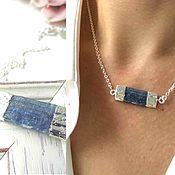 Украшения ручной работы. Ярмарка Мастеров - ручная работа Колье серебро синий кианит -  стильное украшение на шею. Handmade.