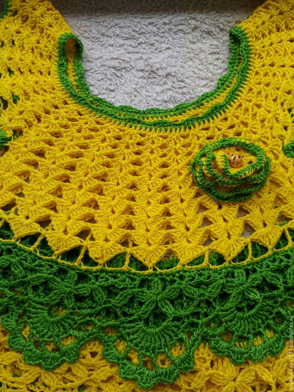 Вязание платья лужок 1 часть 17