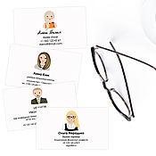 Дизайн и реклама handmade. Livemaster - original item Business cards with custom portrait. Personalized stationery. Personal. Handmade.