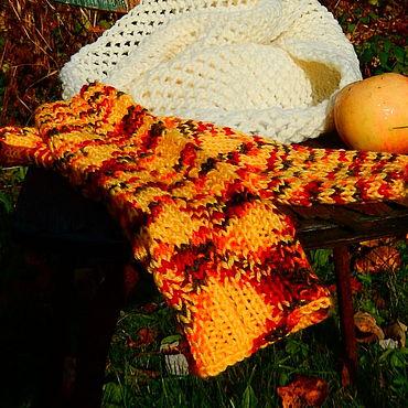 Аксессуары ручной работы. Ярмарка Мастеров - ручная работа Митенки: московская осень. Handmade.