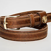 Аксессуары handmade. Livemaster - original item Handmade genuine leather belt