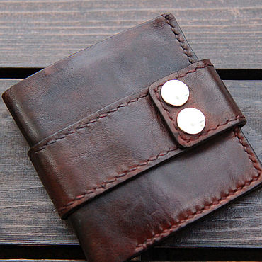 Bags and accessories handmade. Livemaster - original item Men`s leather wallet