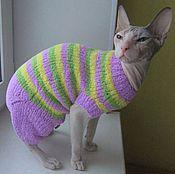 Для домашних животных, ручной работы. Ярмарка Мастеров - ручная работа Плюшевый комбинезон для кошки(кота). Handmade.