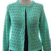Одежда handmade. Livemaster - original item Cotton fishnet jacket, color