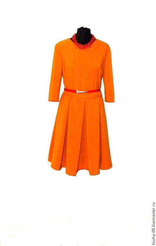 Платья ручной работы. Ярмарка Мастеров - ручная работа. Купить Платье из Итальянской вискозы. Handmade. Рыжий, терракот, платье вечернее