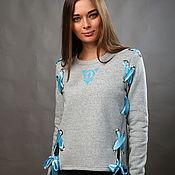 """Одежда handmade. Livemaster - original item Sweatshirt """"Blue"""". Handmade."""