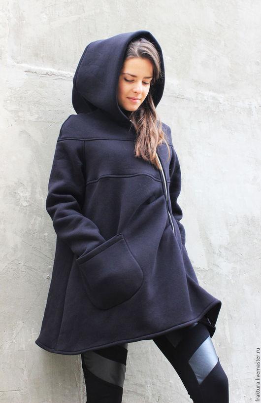 """Верхняя одежда ручной работы. Ярмарка Мастеров - ручная работа. Купить Пальто """" Future"""" C0008. Handmade. Длинная толстовка"""