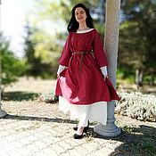 Платья ручной работы. Ярмарка Мастеров - ручная работа Платье льняное Славная Герда 2 в 1; 3 ярких образа в 1 комплекте. Handmade.