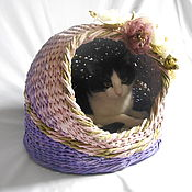 Для домашних животных, handmade. Livemaster - original item the wicker house cat in the style of Provence. Handmade.