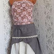 Одежда ручной работы. Ярмарка Мастеров - ручная работа Льняная юбка. Handmade.
