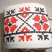 Русский стиль handmade. Livemaster - original item Bracelet with folk ornaments. Handmade.