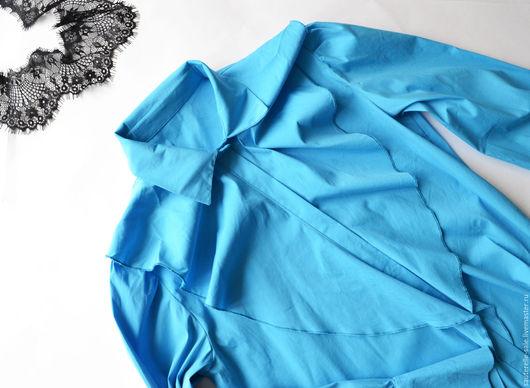 Блузки ручной работы. Ярмарка Мастеров - ручная работа. Купить Блузка синяя. Handmade. Голубой, блуза, ярко-синий, скидки