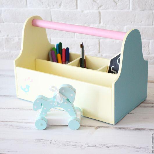 Детская ручной работы. Ярмарка Мастеров - ручная работа. Купить Ящик с ручкой желтый. Handmade. Желтый, хранение игрушек