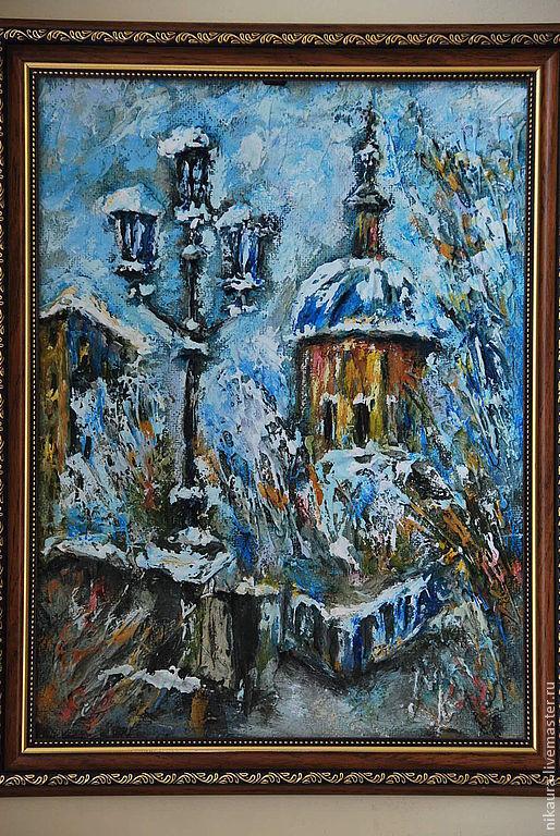 Объемная картина Зимний город, Картины, Москва,  Фото №1