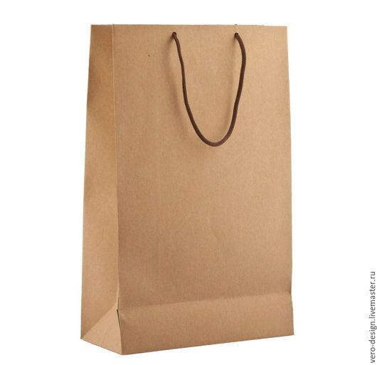 Упаковка ручной работы. Ярмарка Мастеров - ручная работа. Купить Крафт-пакет подарочный с веревочными ручками, 45 Х 33 см. Handmade.