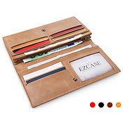 Сумки и аксессуары handmade. Livemaster - original item Flight wallet (sand, brown, black, red). Handmade.