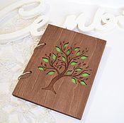 Сувениры и подарки ручной работы. Ярмарка Мастеров - ручная работа Скетчбук, блокнот в деревянной обложке. Handmade.