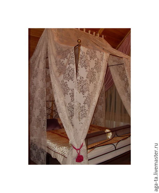 Текстиль, ковры ручной работы. Ярмарка Мастеров - ручная работа. Купить Балдахин над кроватью. На заказ.. Handmade. Белый