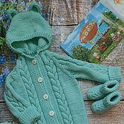 Работы для детей, handmade. Livemaster - original item Knitted Romper for newborns