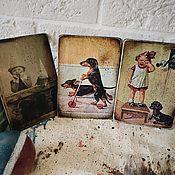Подарки к праздникам handmade. Livemaster - original item Cards wooden