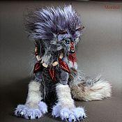 Куклы и игрушки handmade. Livemaster - original item Lunar wolf werewolf silver. Handmade.