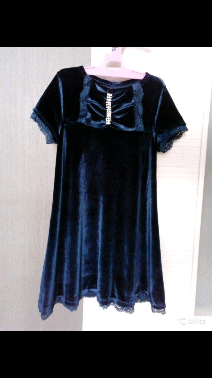 Платье бархатное, вечернее