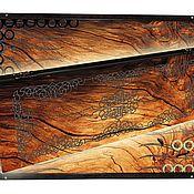 Нарды, шашки ручной работы. Ярмарка Мастеров - ручная работа Эксклюзивные нарды WOOD STRUCTURE (серия S). Handmade.
