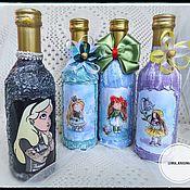Бутылки ручной работы. Ярмарка Мастеров - ручная работа Девочки бывают разные. Handmade.