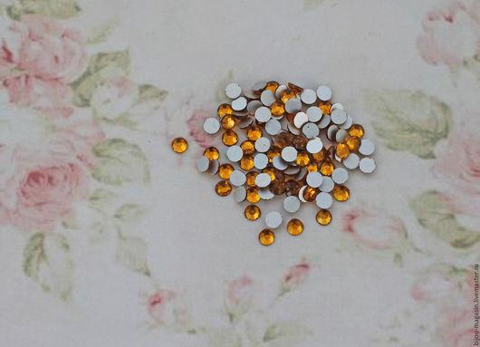 Для украшений ручной работы. Ярмарка Мастеров - ручная работа. Купить Мини-кабошоны кристаллы 4мм. цвет желтый топаз. Handmade.