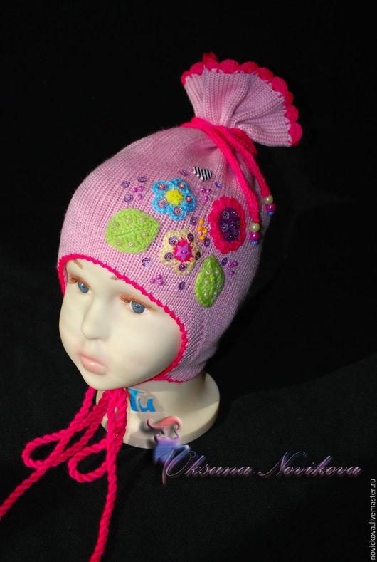 """Шапки ручной работы. Ярмарка Мастеров - ручная работа. Купить Шапочка """"Сладкая конфетка"""". Handmade. Бледно-розовый, зимняя шапка"""