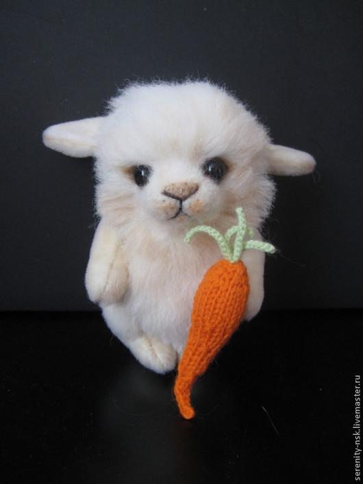 Мишки Тедди ручной работы. Ярмарка Мастеров - ручная работа. Купить зайка Скромняшка. Handmade. Кремовый, морковь, мех для тедди