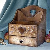 """Для дома и интерьера ручной работы. Ярмарка Мастеров - ручная работа Комодик """"Плетение из роз"""". Handmade."""