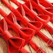 Галстуки ручной работы. Ярмарка Мастеров - ручная работа Бабочки для друзей жениха. Handmade.