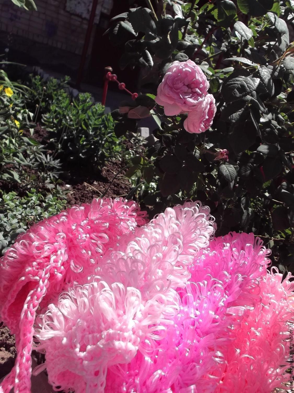 """""""Розовые розы"""" -мочалка полипропиленовая, Мочалки, Балаково,  Фото №1"""