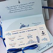Свадебный салон ручной работы. Ярмарка Мастеров - ручная работа Приглашение в виде на лайнер Теплоход. Handmade.