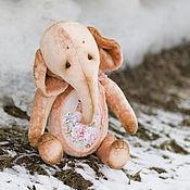 Куклы и игрушки ручной работы. Ярмарка Мастеров - ручная работа Дарящий музу на заре слон тедди. Handmade.