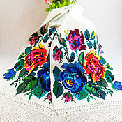 Свадебный салон handmade. Livemaster - original item Rushnik Handmade cross stitch Vintage 60 years. Handmade.
