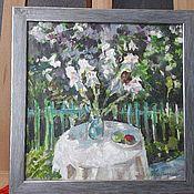 Картины ручной работы. Ярмарка Мастеров - ручная работа Цветы в саду. Handmade.