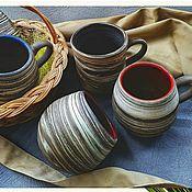 handmade. Livemaster - original item Original mugs naregi. Handmade.
