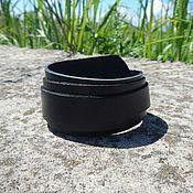 Украшения handmade. Livemaster - original item Leather bracelet wrapped Three buttons. Handmade.