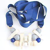 Украшения handmade. Livemaster - original item Necklace Sea dragon, tape, wood, glass. Handmade.