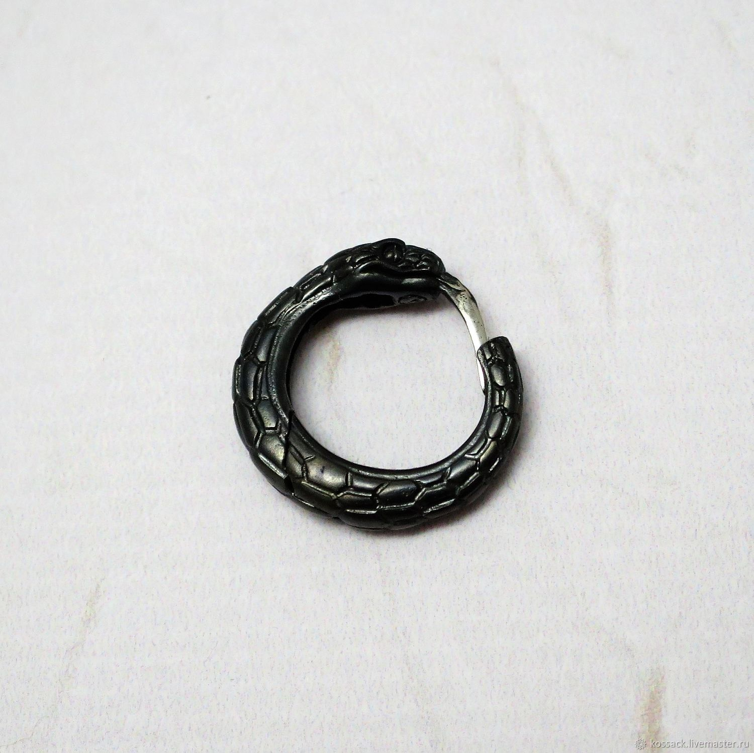 Copy of Ouroboros hoop earring for men, Earrings, Zaporozhye,  Фото №1