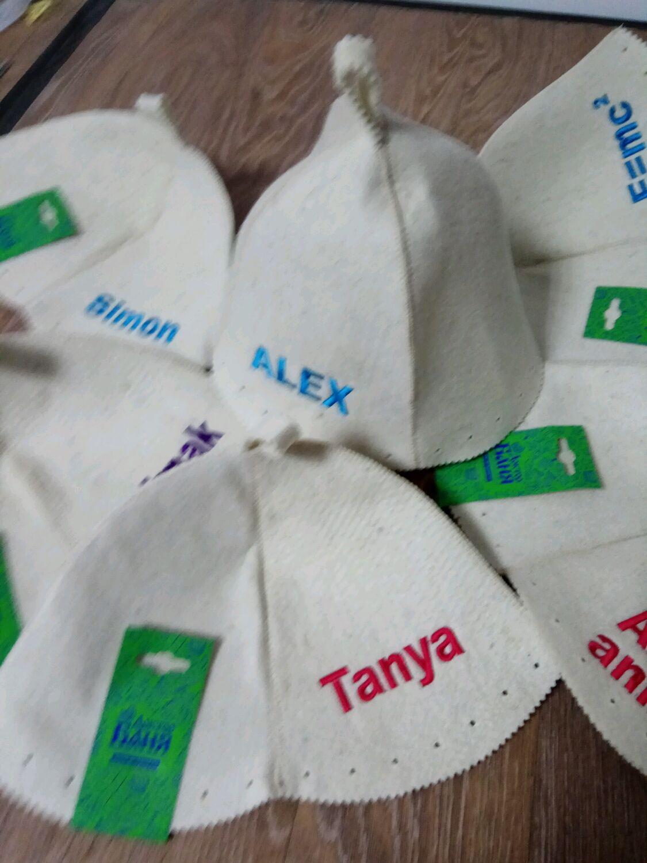 Вышивка на банную шапку